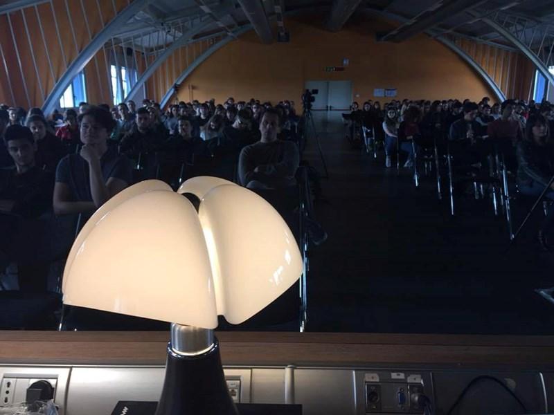 Martinelli Luce à IMPRESA DOCET 2017, débat entre les entreprises et les étudiant