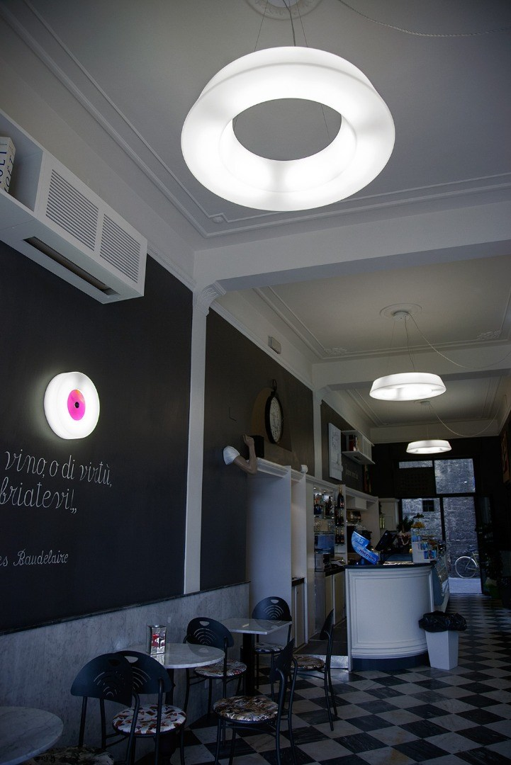 Prato city bar glows with our design