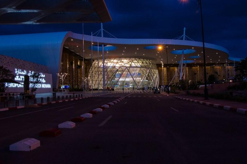 Le nouvel aéroport de Menara à Marrakech s'éclaire avec Martinelli luce