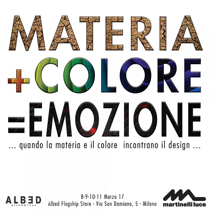 Martinelli luce et Albed pour le MADE, promotion de l'évènement