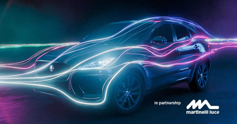 Martinelli Luce sponsors the presentation of the new Jaguar I-PACE