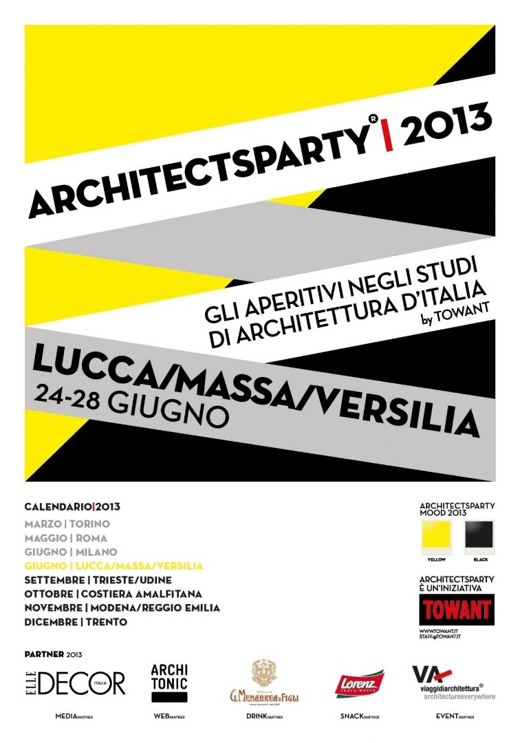 Martinelli Luce design partner for Architects Party | 2013