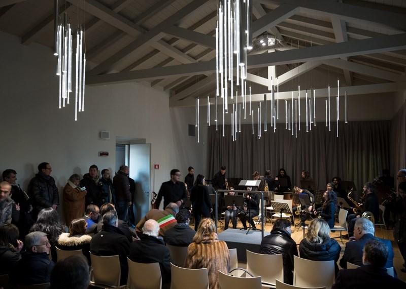 Il nuovo Liceo musicale Passaglia illuminato da Martinelli Luce